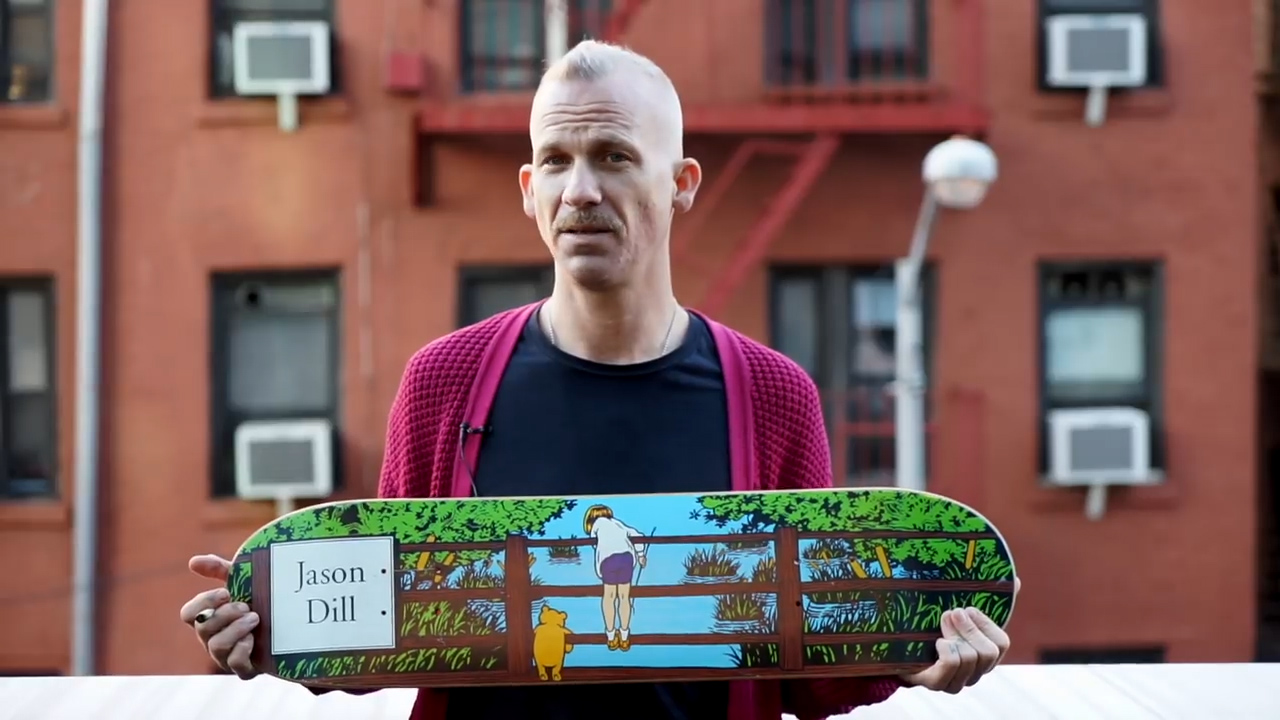 Jason Dill, Bobshirt Interview, 2017 - Winnie the Pooh 101 Skateboards deck