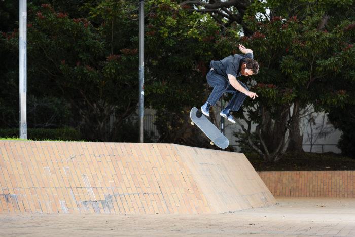 Andrew Allen, halfcab flip in, LA High. phtoto: Ben Colen