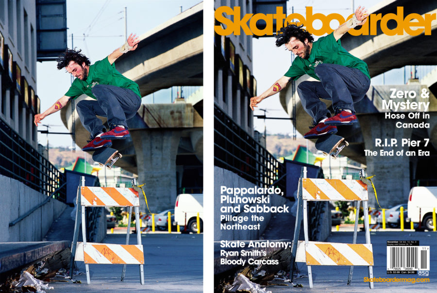 Gino Iannucci by Ben Colen - original and Skateboarder Magazine cover