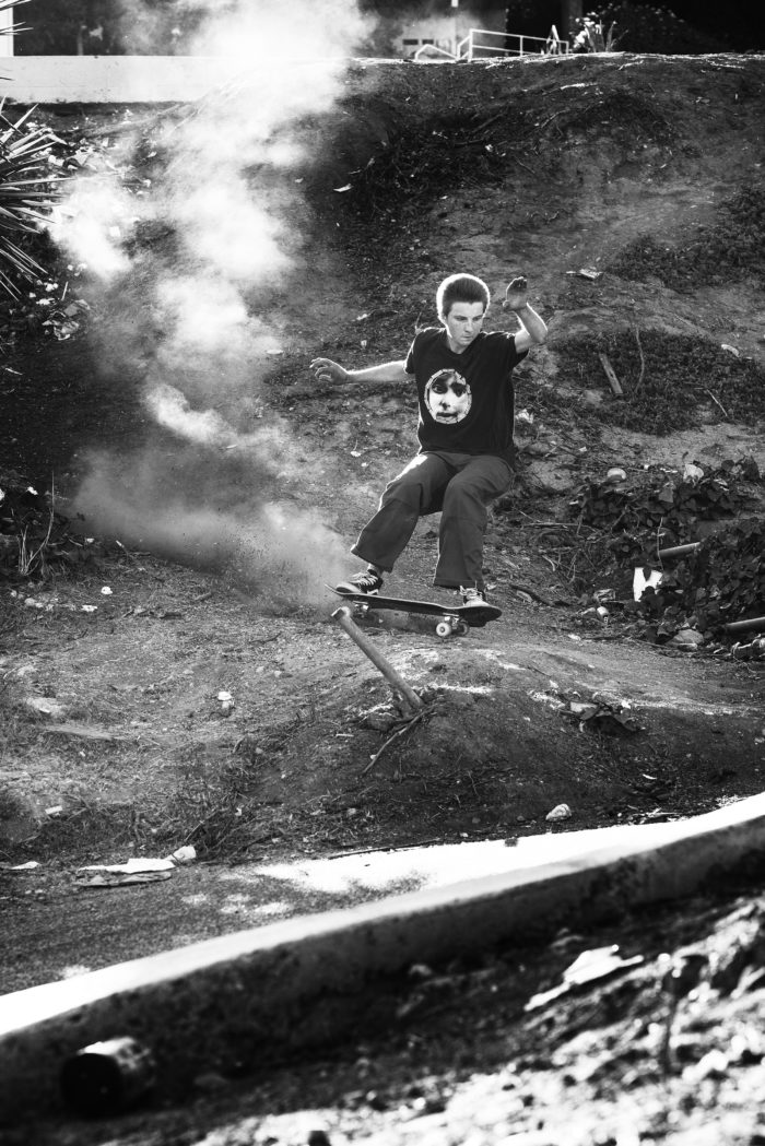 Aidan Mackey, dirt ride, Los Angeles, California. photo: Andrew James Peters