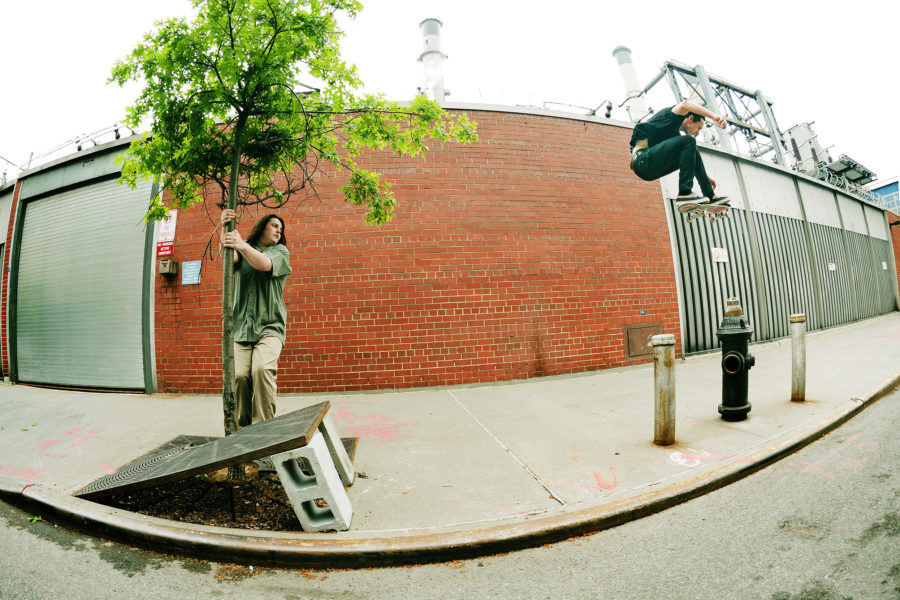 Austyn Gillette, kickflip, Lower East Side, New York. photo: Andrew James Peters