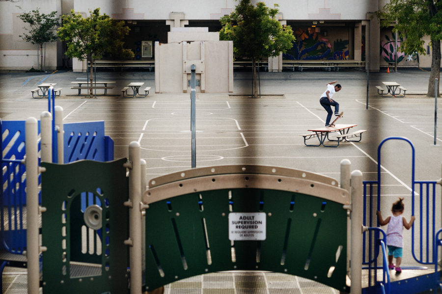 Chima Ferguson, switch frontside bluntslide, Los Angeles, California, 2014. photo: Andrew James Peters