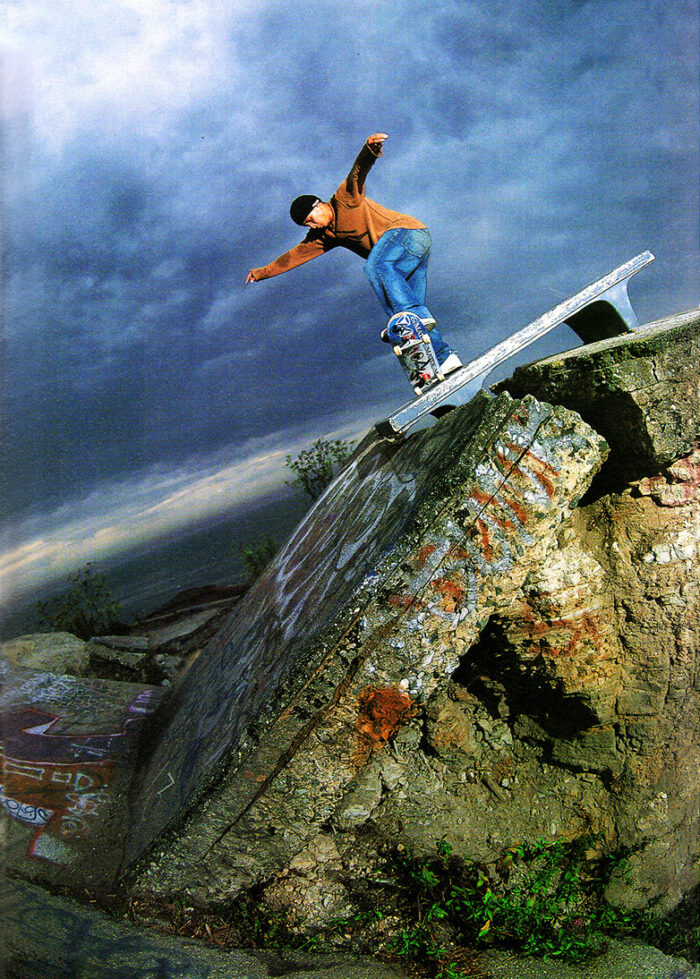 Daewon Song, noseblunt slide for Artafact Skateboards shot by Seu Trinh
