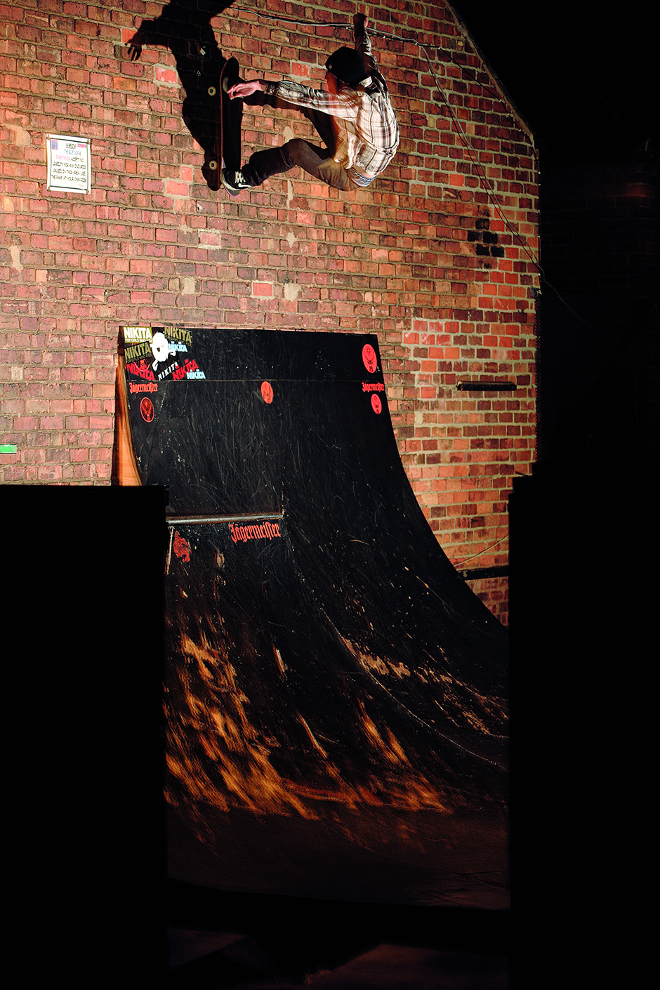 Darren Wallrides to Fakie, The Blue Dog, Derby. Photo: Andrew Horsley