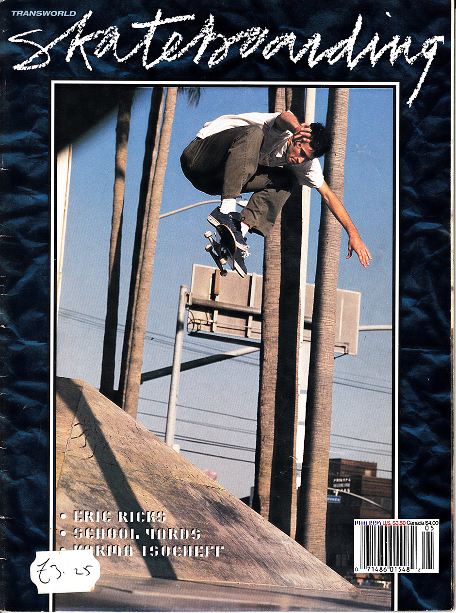 Jason Lee floating in Santa Monica in 1994. Photo: Tobin Yelland. Inset Below Tobin's favourite issue of Big Brother