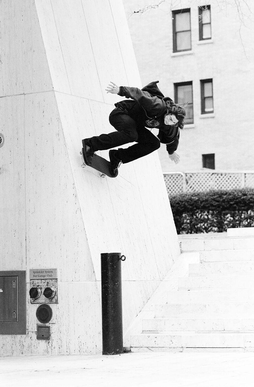 Jake Johnson, switch backside wallride as seen in 'Mind Field', New York, 2008   photo: Jonathan Mehring