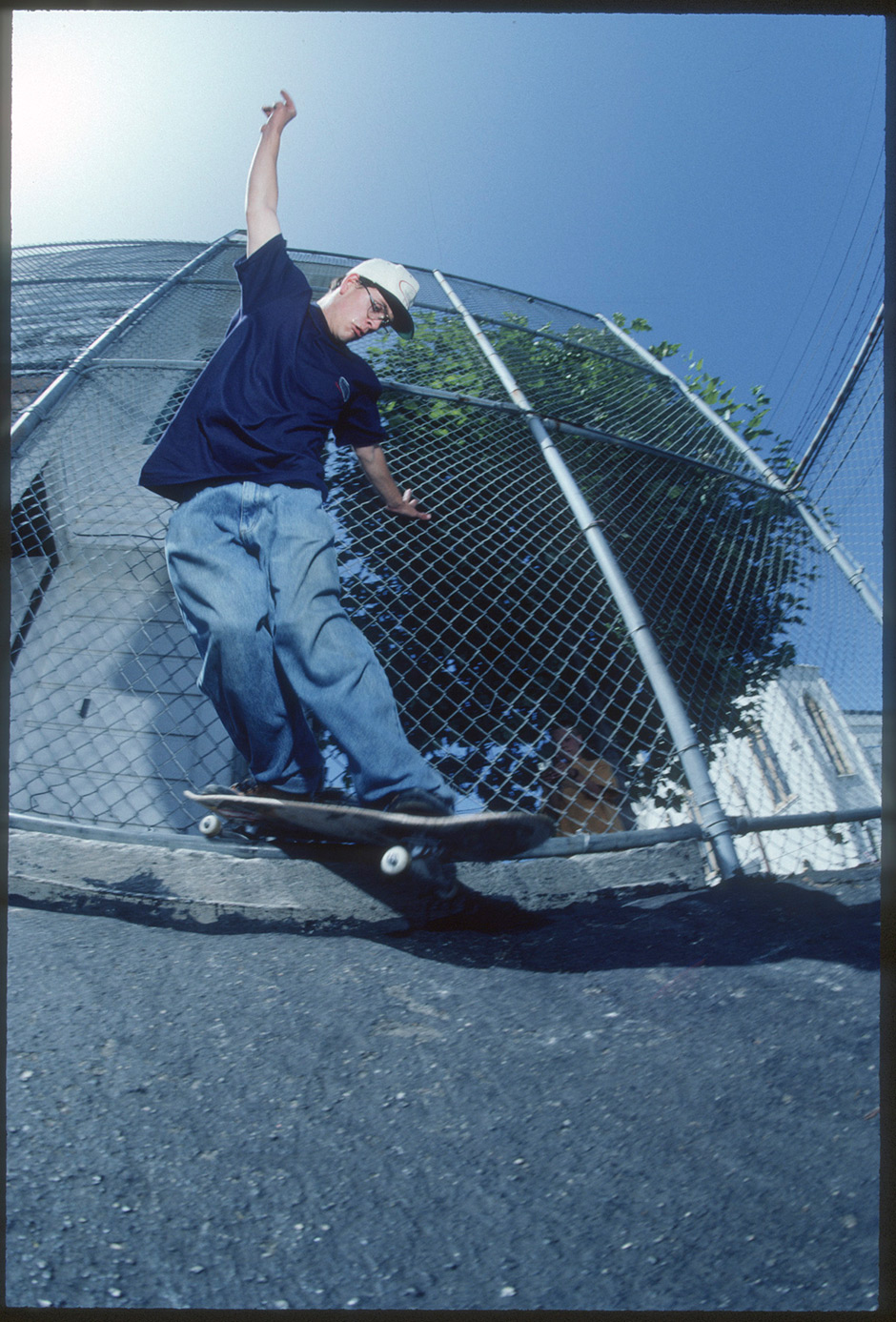 No discussion on including this Justin Girard back smith from 1991. Photo: Tobin Yelland. Inset below - Fogtown No Ploys No Toys ad