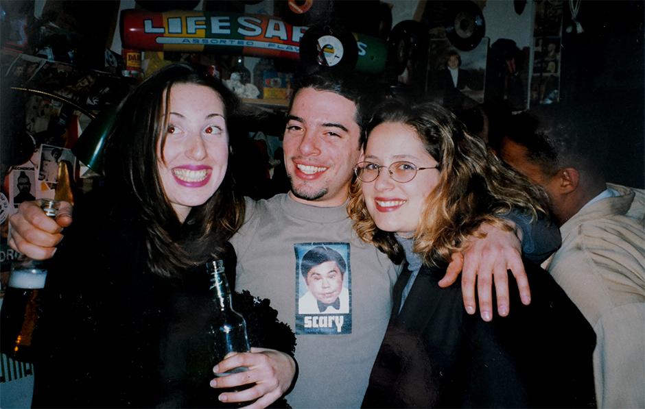 Jeremy's siblings Sarah, Josh and Lisa in 1998