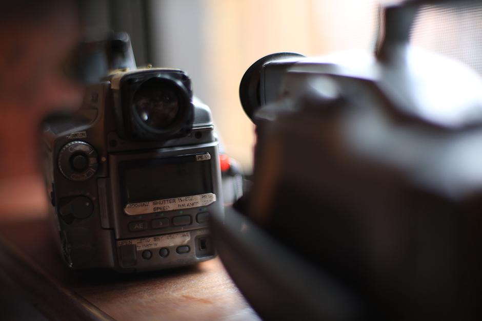Static IV filming equipment. Jeremy's VX1000's. Photo: Jeremy Elkin