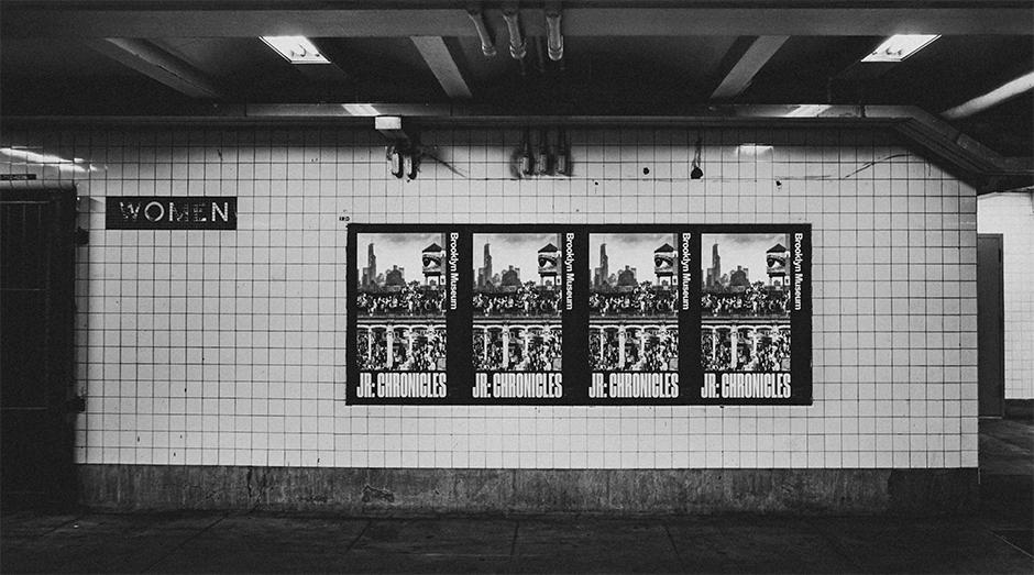 JR Brooklyn Museum posters on the New York Subway. Photo: Scott Furkay