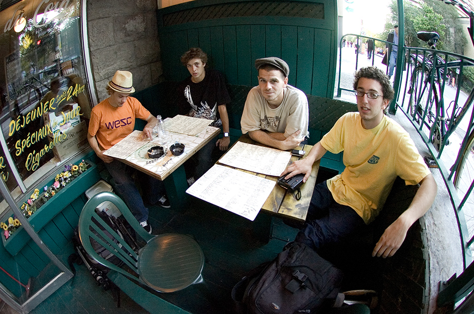 Lo-Def filming squad. Phil Knechtel, Ryan Decenzo, Andrew McGraw, Jeremy Elkin. Photo: Geoff Clifford