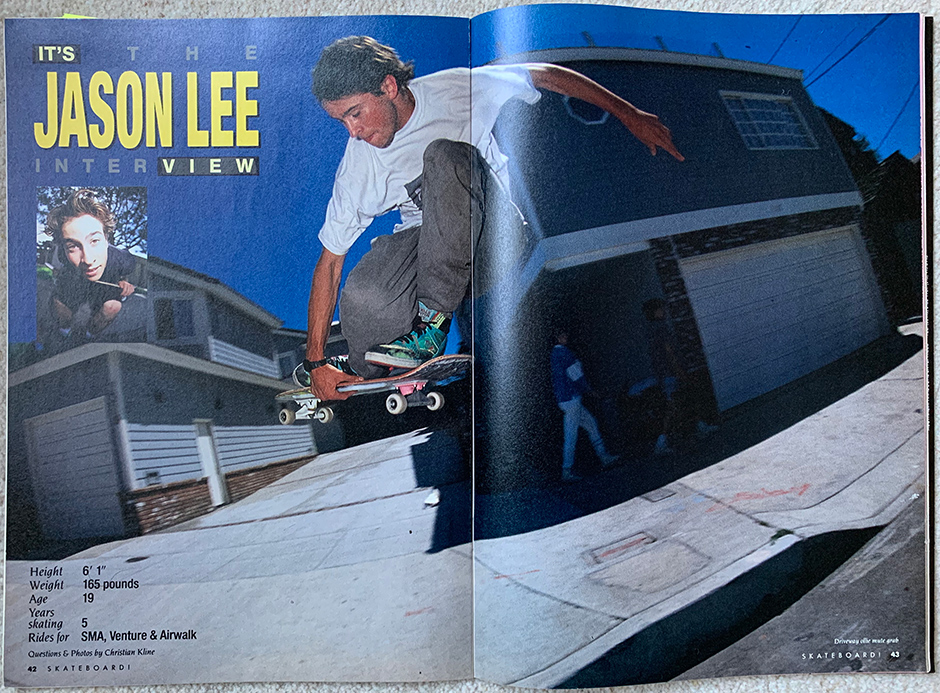 Some reading material which stuck. The Jason Lee Interview from 1989. Photo: Christian Kline
