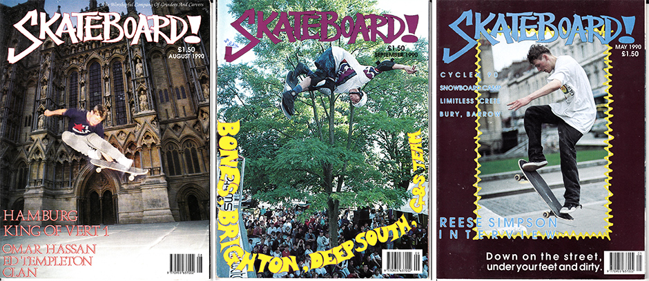 Three crucial covers. Rodney Mullen. Tony Hawk shot by Skane himself and the controversial Bristol street shot