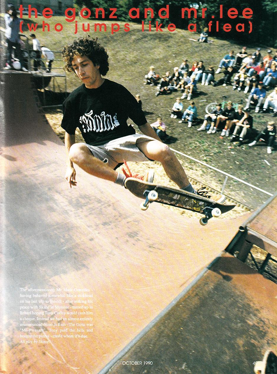 Second Gonz visit in 1990 shot by Steve Kane