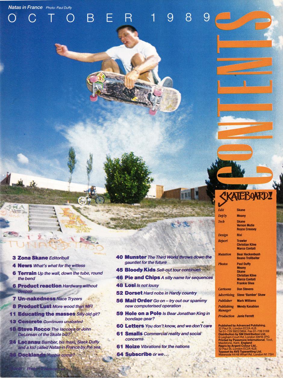 Skateboard! Masthead. Natas Kaupas french floatation. Photo: Paul Duffy