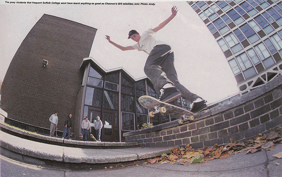Channon King Backside Tailslides at Suffolk College. Photo: Andy Horsley