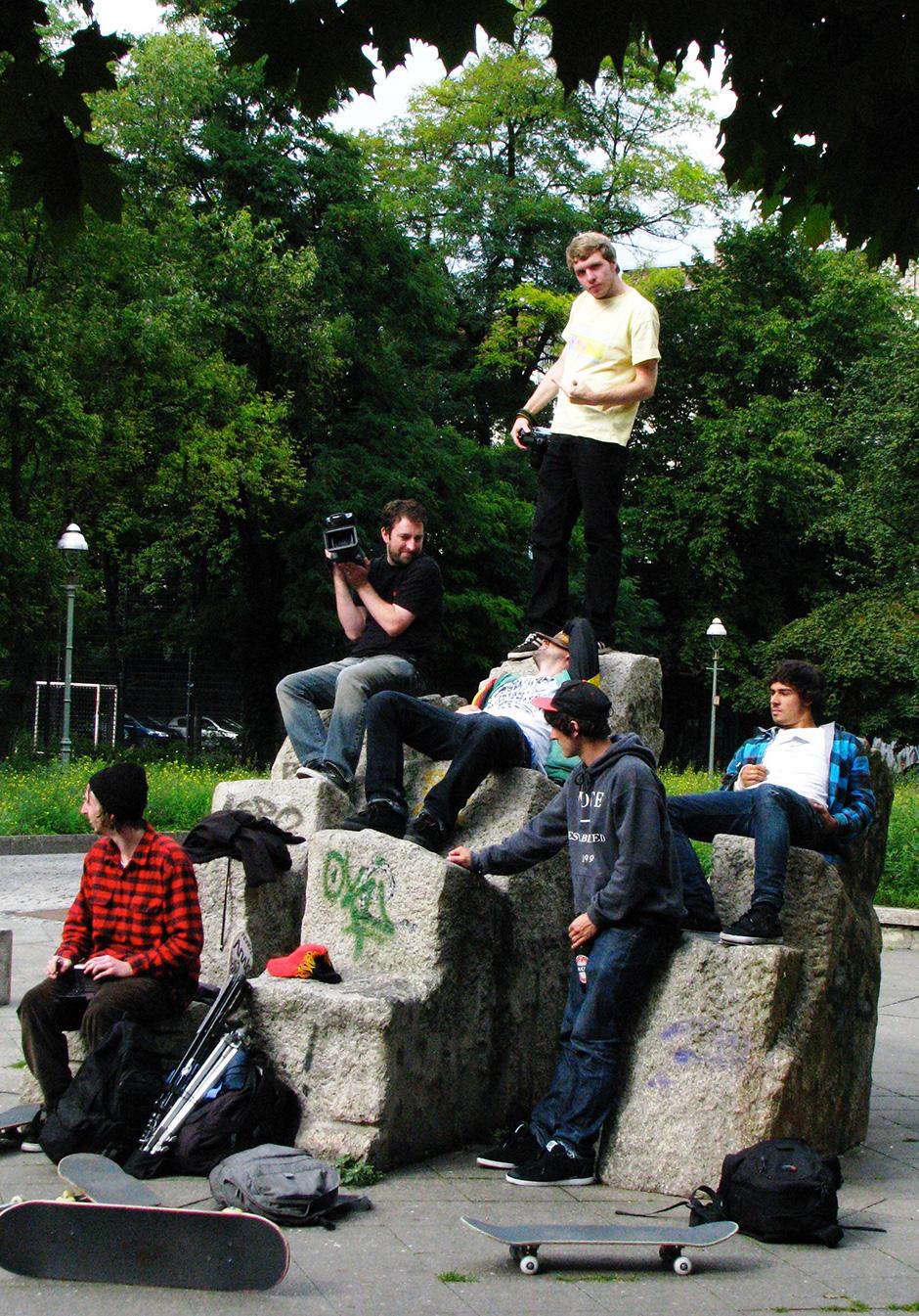 Harmony in Berlin. Jak Pietryga, Jim Walker, Jamie Errington, Pablo Aresu, Jed Coldwell and Adam. Photo: Joe Buddle