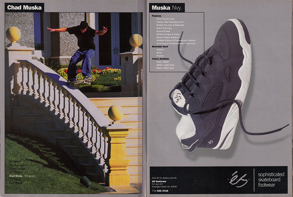 Chad Muska's game changing shoe even showed up on the SD police force radar