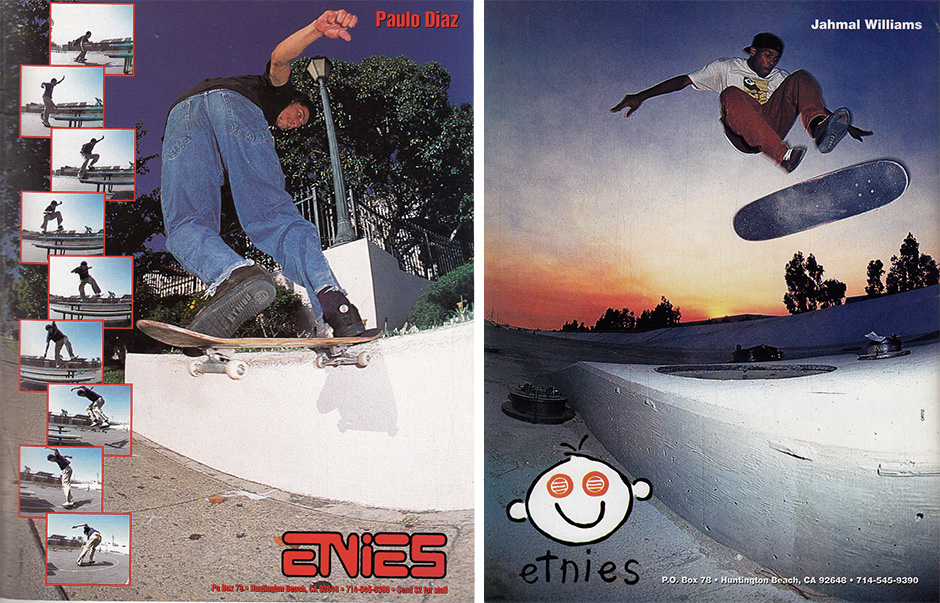 Paulo Diaz and Jahmal Williams Etnies Ads which appeared in Issues 10 and 11 of Big Brother