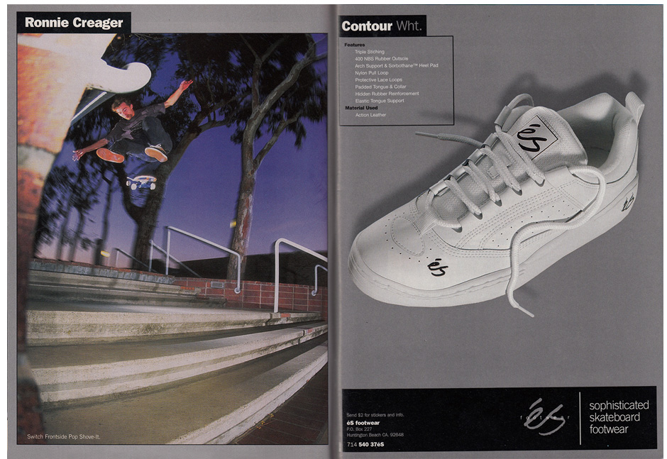Best team ever indeed. Ronnie Creager with a Switch Front Shuv in this ad from '97