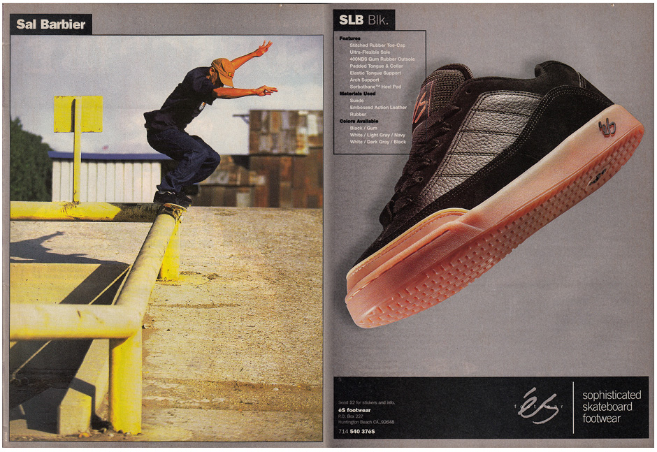 Sal Barbier's third pro shoe - the SLB 97