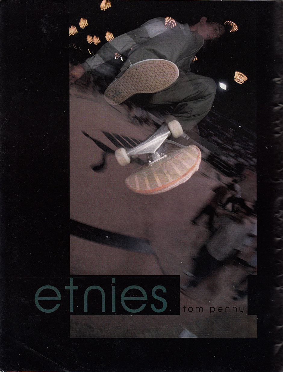 Tom Penny Etnies Ad which appeared in the Big Brother East Coast Issue in 1995