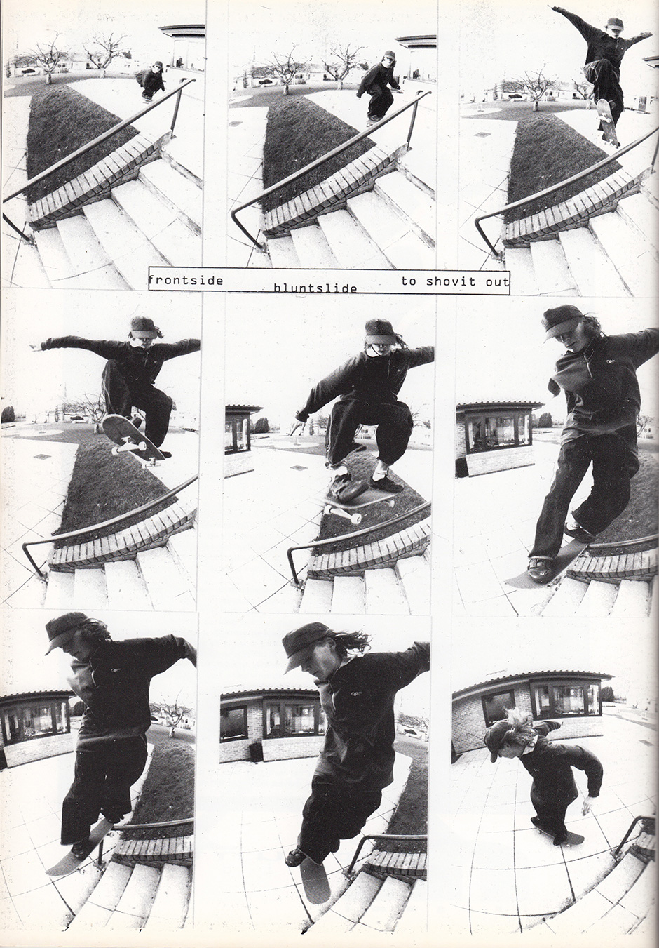 Frontside bluntslide Shove it from System Mag in 1993. Photo: Wig Worland
