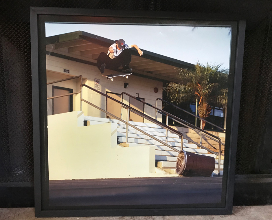 Alex's favourite frontside flip photo shot by Arto Saari in the frame