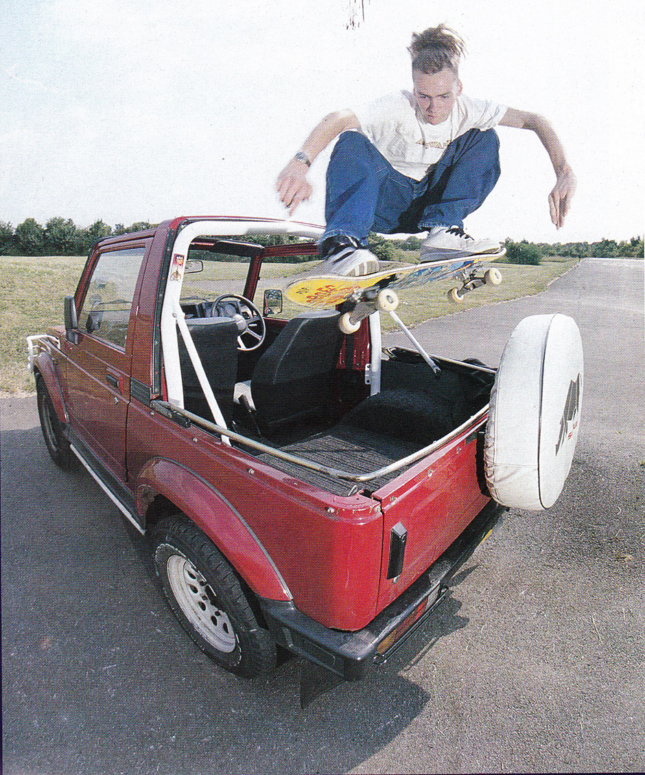 Renegade return to Abingdon BMX Track with a jeep in 1996. Photo: Andy Horsley