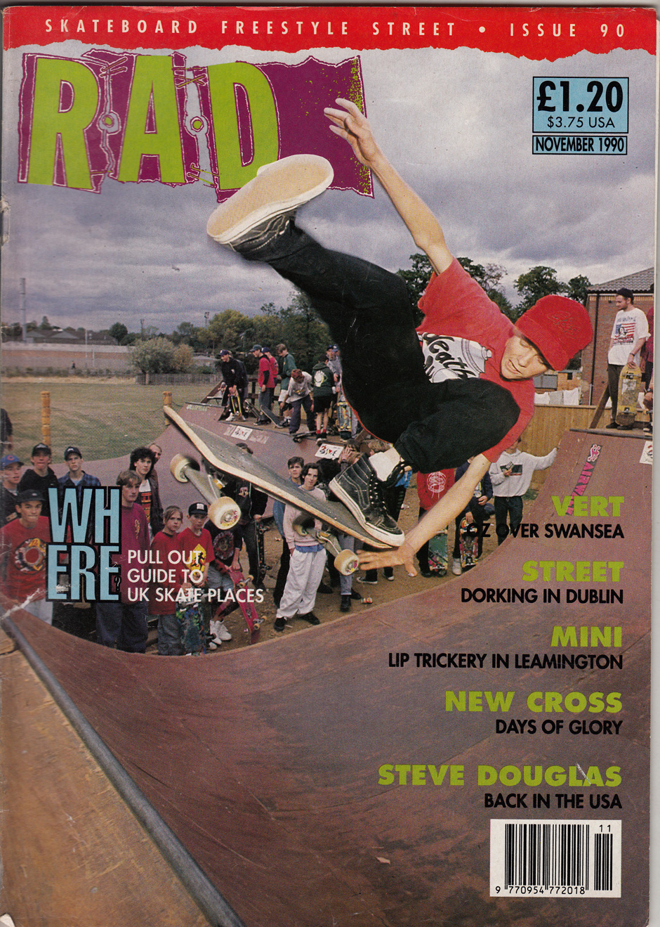 The November 1990 RaD cover discovered by Alex's English Teacher. Photo: Tim Leighton-Boyce