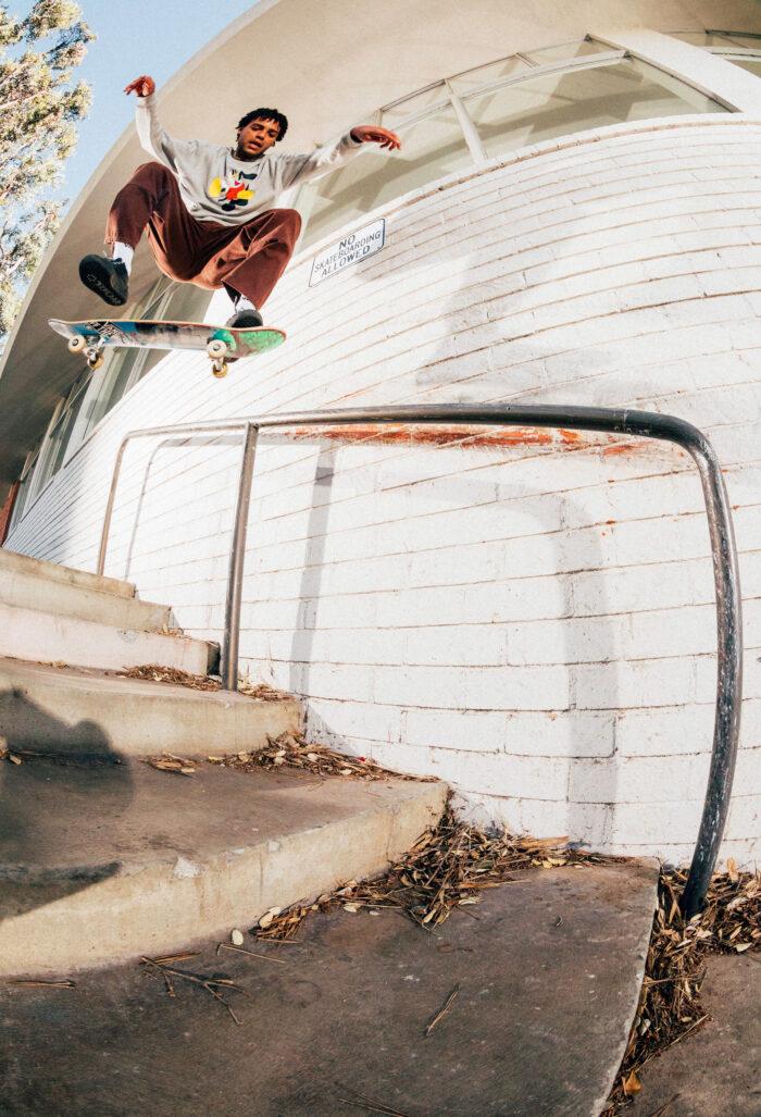 Justin Henry, nollie heelflip noseslide. photo: Dakota Mullins