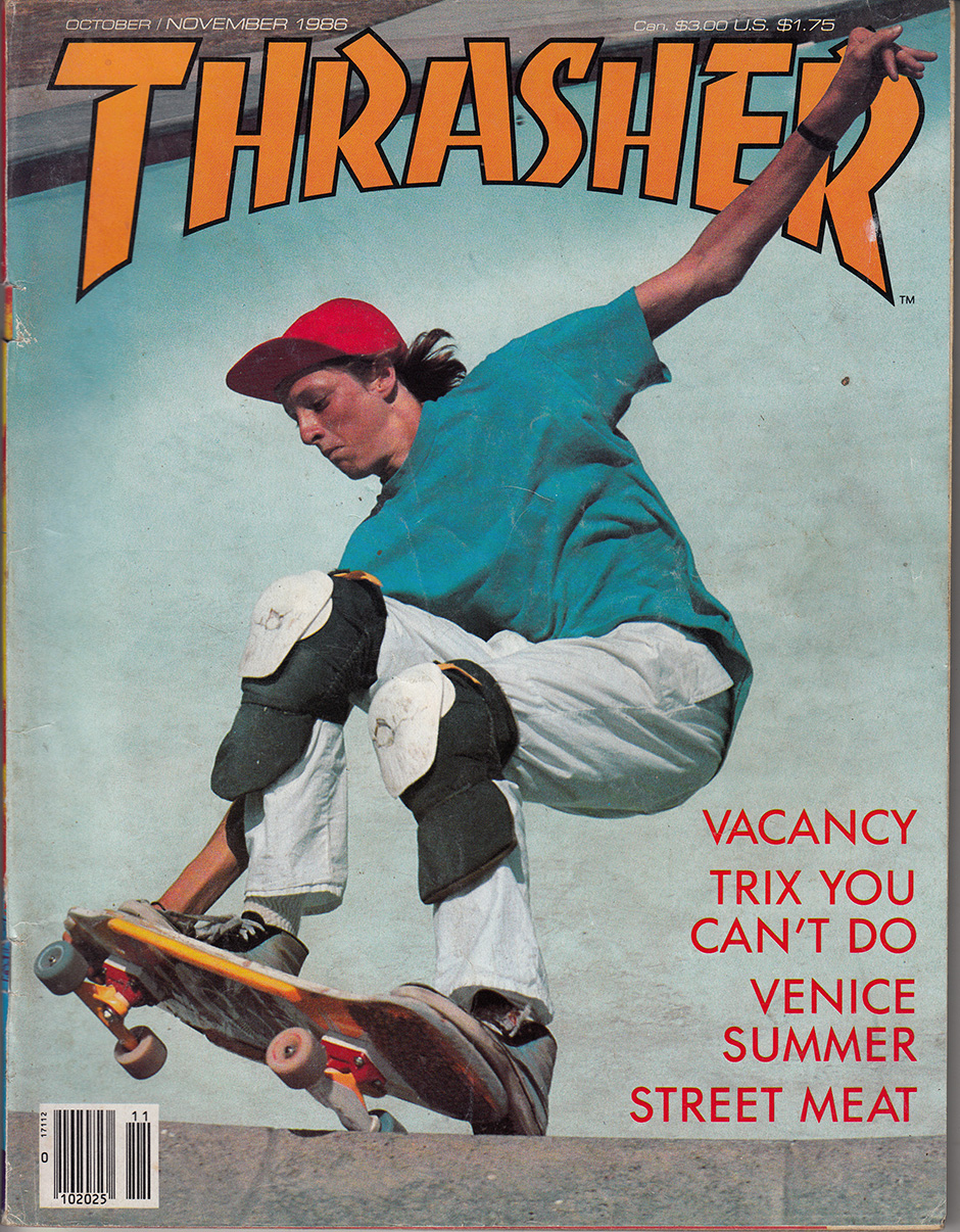 1986 Thrasher cover shot at the Pink Motel in Sun Valley. Photo: MOFO
