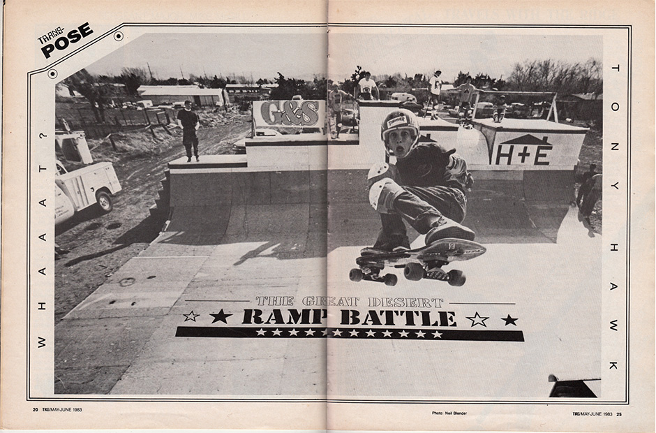 Centre Spread in the first issue of Transworld. Photo: Neil Blender