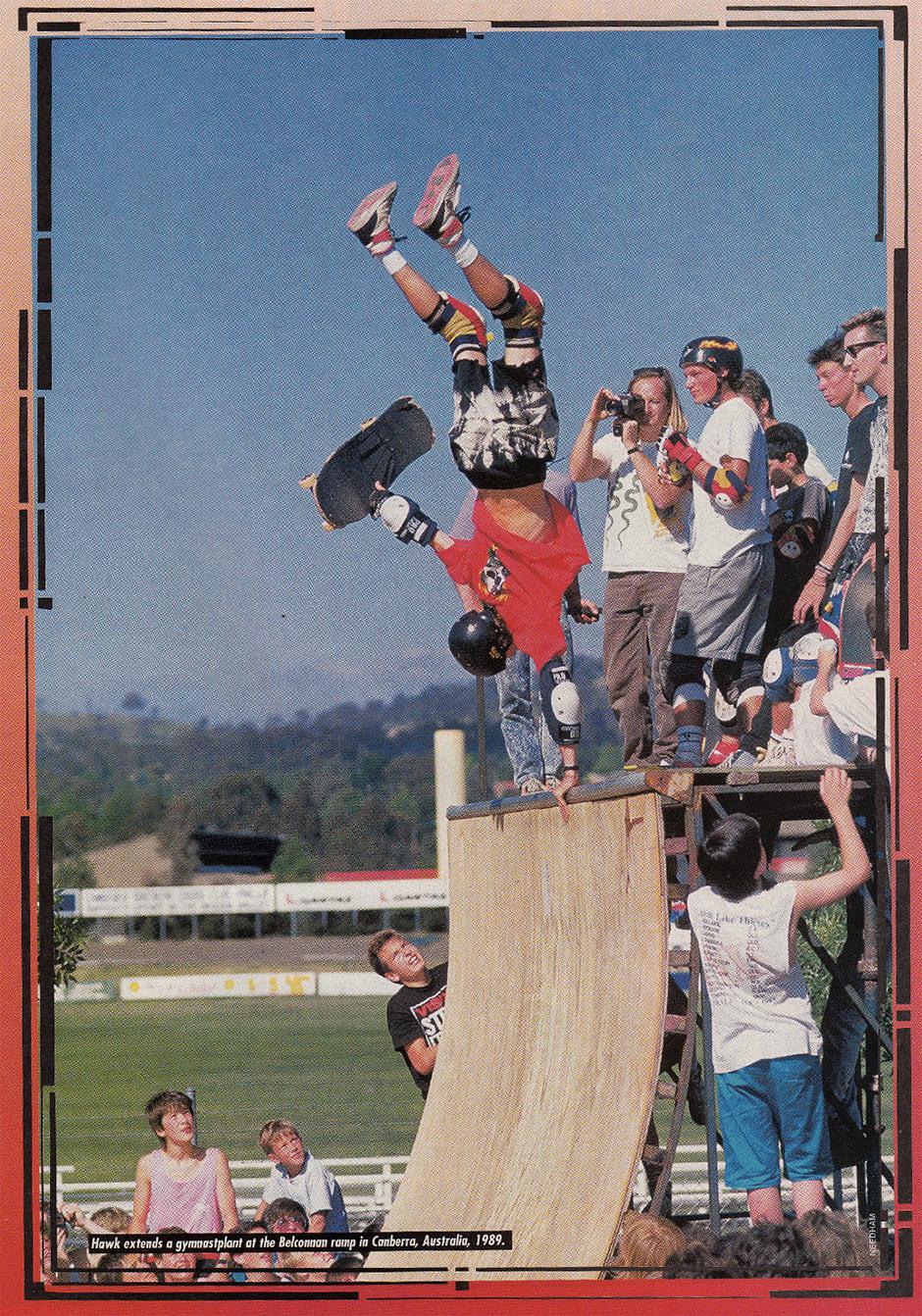 Gymnast Plant on Australian Capital Territory in 1989 Photo: Scott Needham