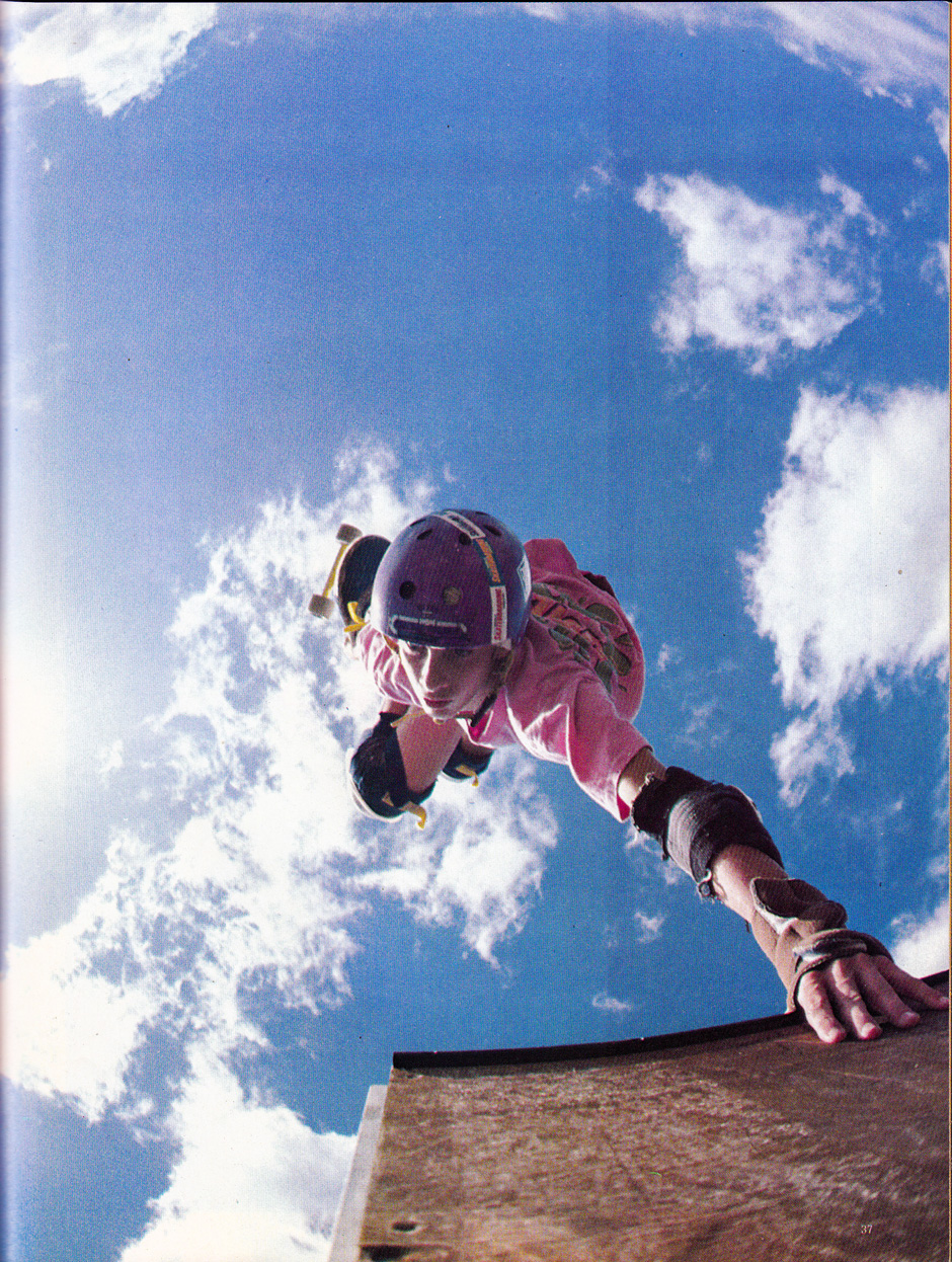Blue Sky Thinking. Tony inverts while Lance Mountain wields the lens way before Birdhouse in 1986