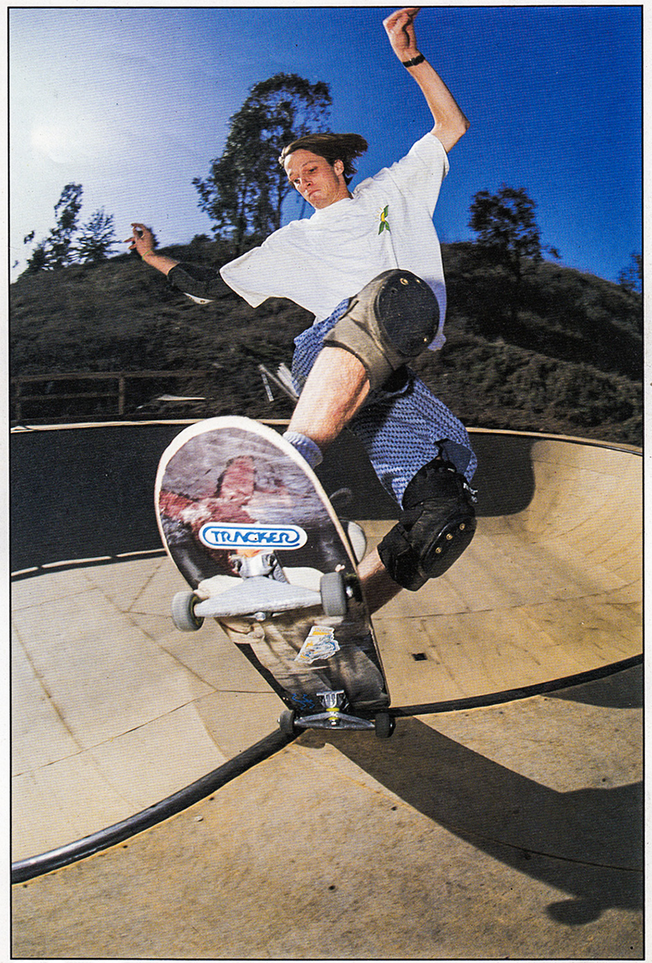 SMALL TIRES AND A REAL JIM THIEBAUD BOARD. PHOTO: BRAD MCDONALD FOR SKATEBOARD! MAGAZINE in 1992