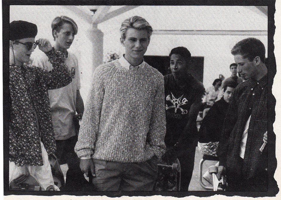 Steve Saiz, Tony Hawk, Tommy Guerrero and Rich Dunlop with Christian Slater in R.A.D October 1989