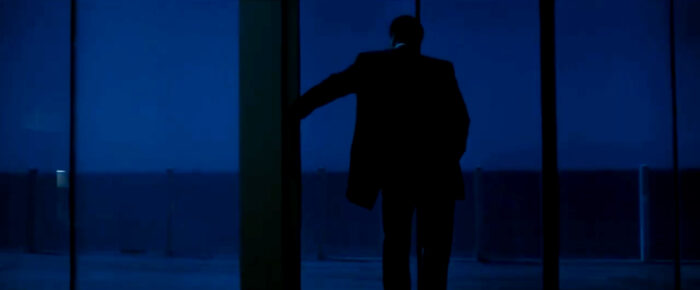 A still from Michael Mann's 'Heat' featuring Neil McCauley (Robert De Niro) overlooking the ocean from his apartment, based on Alex Colville's 1967 painting 'Pacific' | Offerings: Tom Karangelov Interview | Slam City Skates