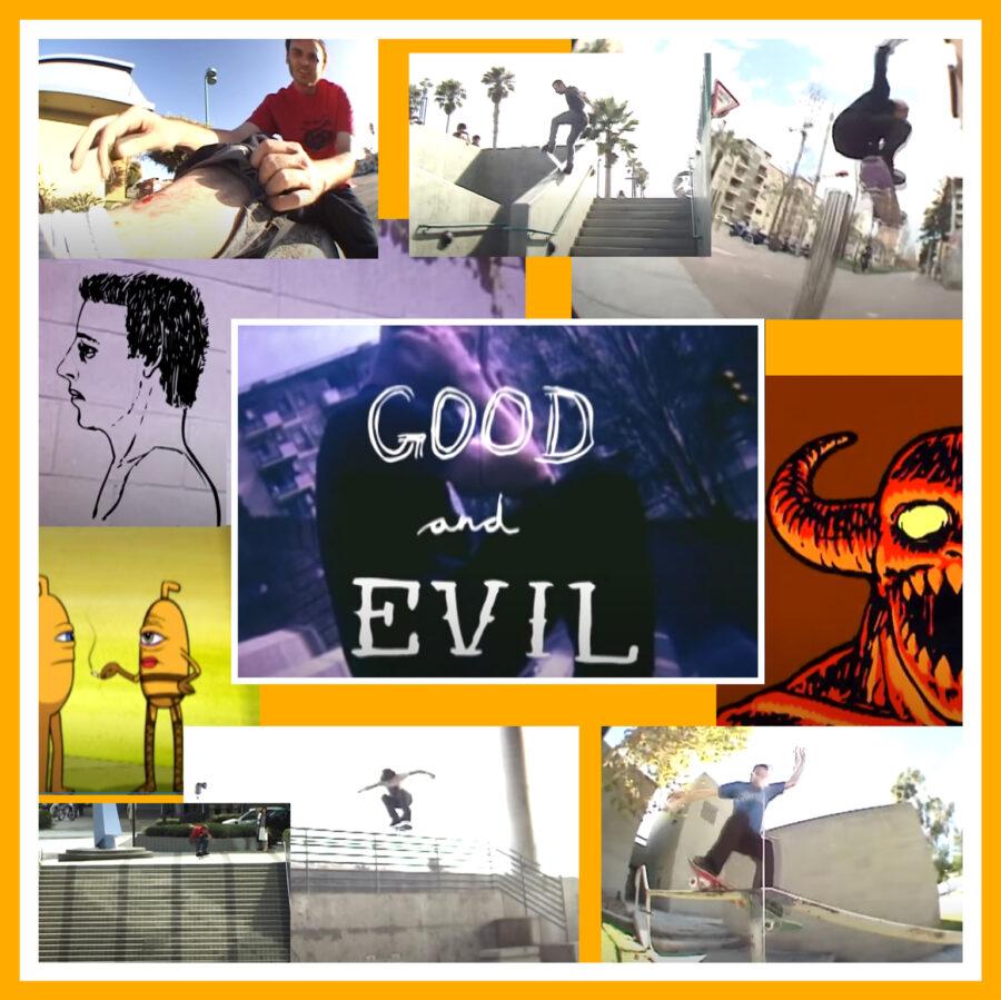 Collage by Tom K featuring stills from Toy Machine's 2004 video 'Good & Evil' | Offerings: Tom Karangelov Interview | Slam City Skates